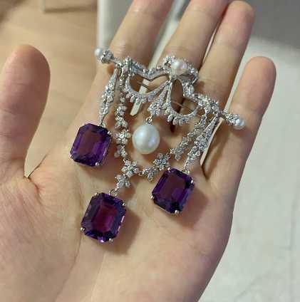 天然紫水晶镶嵌什么款式好看呢?